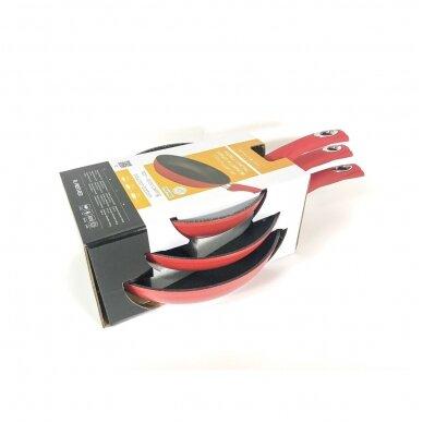 Набор сковородок  Royalty Line RL-FM3F3-RED с антипригарным мраморным покрытием 2