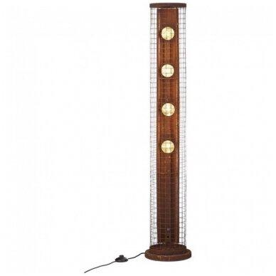 Industriālā stila iebūvētais gaismeklis Brilliant 90891/55 - Pauletta